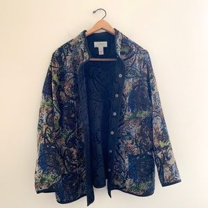 CJ Banks Jackets & Coats - CJ Banks by Christopher and Banks Embroidered Coat